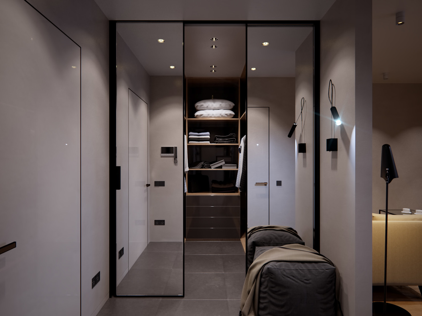 дизайн коридора с гардеробной в квартире фото волгодонске