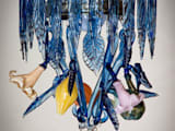 Turkish blue chandelier:   by A Flame with Desire