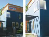 Fassadendetail: moderne Häuser von heidenreich architektur