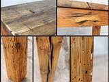 Detailansicht Esstisch aus historischem Holz:   von ReFactura