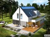 Projekt Adam G2 ENERGO PLUS - nowoczesny dom z dwoma tarasami : styl nowoczesne, w kategorii Domy zaprojektowany przez Pracownia Projektowa ARCHIPELAG