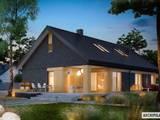 Daniel IV G2 – nowoczesny dom z atrakcyjną antresolą : styl nowoczesne, w kategorii Domy zaprojektowany przez Pracownia Projektowa ARCHIPELAG