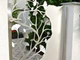 Edelstahl Ginkgotor:  Zen garten von Edelstahl Atelier Crouse - Stainless Steel Atelier
