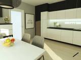 Czerń i biel w duecie: styl , w kategorii Kuchnia na wymiar zaprojektowany przez ZIN Studio