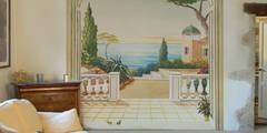 Papier peint panoramique paysage italien:  de style  par Belmon Déco