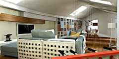 Modellazione di interni Soggiorno : Soggiorno in stile in stile Moderno di AAA Architettura e Design