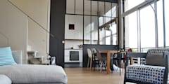Salon / salle à manger - Duplex Boulogne: Salle à manger de style de style Moderne par A comme Archi