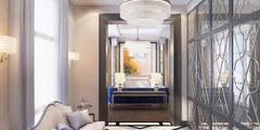 Pasillos, vestíbulos y escaleras de estilo  por Anna Clark Interiors