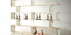 Libreria componibile Skaffa wood :  in stile  di Piarotto.com -  Mobilie snc