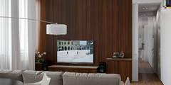 Интерьер квартиры на Гоголевском бульваре: Гостиная в . Автор – Архитектурное бюро Андрея Стубе