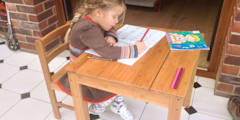 Childrens Table and Chair:   by Finoak LTD