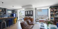 Appartement Caulaincourt Paris: Salon de style de style eclectique par Hélène de Tassigny