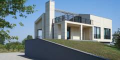 NAT OFFICE - christian gasparini architect: modern tarz Evler