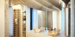 Футуристическая квартира в Москве: Ванные комнаты в . Автор – Cтудия дизайна Станислава Орехова