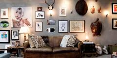 Projekty,  Salon zaprojektowane przez BRICKS Studio