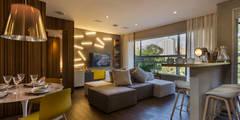 Salas de estilo minimalista por Studiodwg Arquitetura e Interiores Ltda.