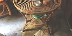 Mesa bambú:  de estilo  de Meublé