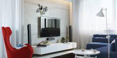 Интерьер квартиры для молодого человека: Гостиная в . Автор – Оксана Мухина