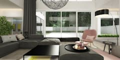 modern Living room by ELEMENTY - Pracownia Architektury Wnętrz