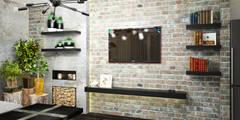 industriale Wohnzimmer von AbcDesign