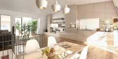 Visualisations 3d: Cuisine de style de style Moderne par JIGEN