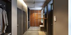 Corredores, halls e escadas minimalistas por lab21studio