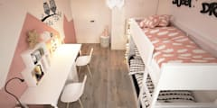scandinavian Nursery/kid's room by ELEMENTY - Pracownia Architektury Wnętrz