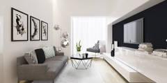 moderne Wohnzimmer von ZR-architects
