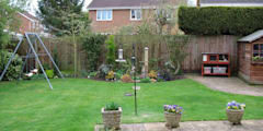 Before - from the house:   by Jane Harries Garden Designs