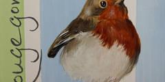 Rouge-Gorge:  de style  par Odile Laresche Artiste Peintre Animalier