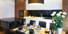 ORZECH PO AMERYKAŃSKU: styl , w kategorii Kuchnia zaprojektowany przez Ludwinowska Studio Architektury