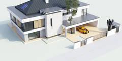 Willa Floryda: styl nowoczesne, w kategorii Domy zaprojektowany przez MG Projekt Projekty Domów