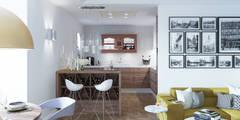 ART DECO: styl , w kategorii Kuchnia zaprojektowany przez Ludwinowska Studio Architektury