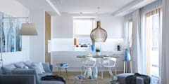 BLIŻEJ NIEBA: styl , w kategorii Kuchnia zaprojektowany przez Ludwinowska Studio Architektury