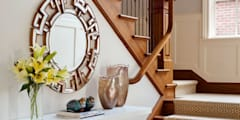 Cherry Creek Traditional with a Twist: eclectic Corridor, hallway & stairs by Andrea Schumacher Interiors