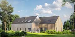 Projekty domów - House x09 - DomPP.pl: styl nowoczesne, w kategorii Domy zaprojektowany przez Majchrzak Pracownia Projektowa