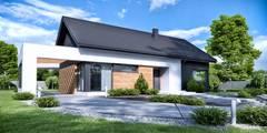 住宅 by HomeKONCEPT | Projekty Domów Nowoczesnych
