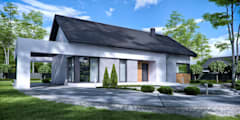 Projekt domu HomeKONCEPT-45: styl nowoczesne, w kategorii Domy zaprojektowany przez HomeKONCEPT | Projekty Domów Nowoczesnych