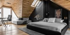 SOPOT. PODDASZE. UL.OKRĘŻNA: styl , w kategorii Sypialnia zaprojektowany przez Raca Architekci