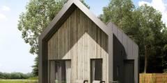 Projekt domu letniskowego House S: styl , w kategorii  zaprojektowany przez Majchrzak Pracownia Projektowa