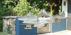"Edelstahltore ""Yukon"": moderner Garten von Edelstahl Atelier Crouse - Stainless Steel Atelier"