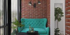 Квартира в Красногорске. ЖК Молодежный: Балконы, веранды и террасы в . Автор – 3D GROUP