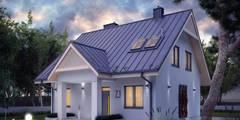 Wizualizacja projektu domu Pliszka 4: styl klasyczne, w kategorii Domy zaprojektowany przez Biuro Projektów MTM Styl - domywstylu.pl