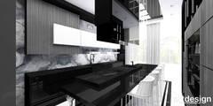 LIKE A MILLION DOLLARS | II | Wnętrza rezydencji: styl , w kategorii Kuchnia zaprojektowany przez ARTDESIGN architektura wnętrz
