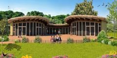 Bijeenkomstgebouw voor agrarisch- natuur- en-milieueducatie:   door VAN LAARHOVEN COMBINATIE