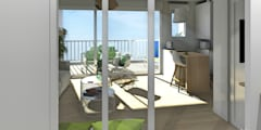 Perspective depuis l'entrée: Couloir, Entrée & Escaliers de style de style Scandinave par MJ Intérieurs