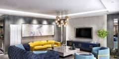 Vero Concept Architects – Hande Hanım Konut: modern tarz Oturma Odası