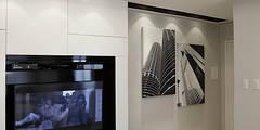 Projekty,  Salon zaprojektowane przez Kali Arquitetura