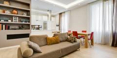 Merulana   minimal design: Soggiorno in stile in stile Moderno di EF_Archidesign
