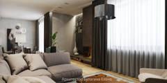 Дизайн-проект загородного дома в Завидово : Гостиная в . Автор – Архитектурное Бюро Капитель